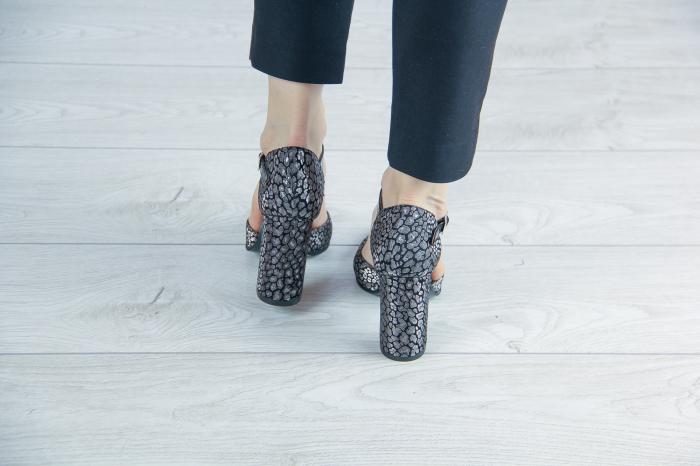 Pantofi decupati din piele  naturala cu imprimeu MSSD2720-20 [3]