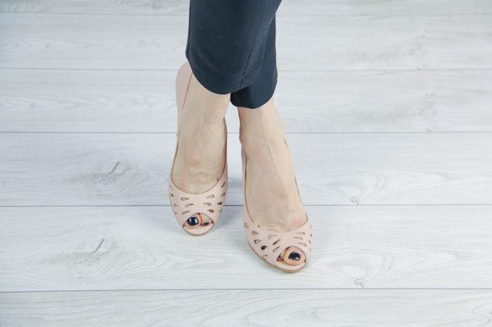 Pantofi decupati din piele naturala perforata MSSD1711-1-20 [1]