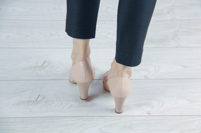Pantofi decupati din piele naturala perforata MSSD1711-1-20 [3]