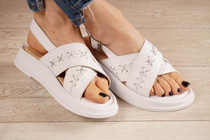 Sandale din piele naturala alba MSSD0321-21 [1]