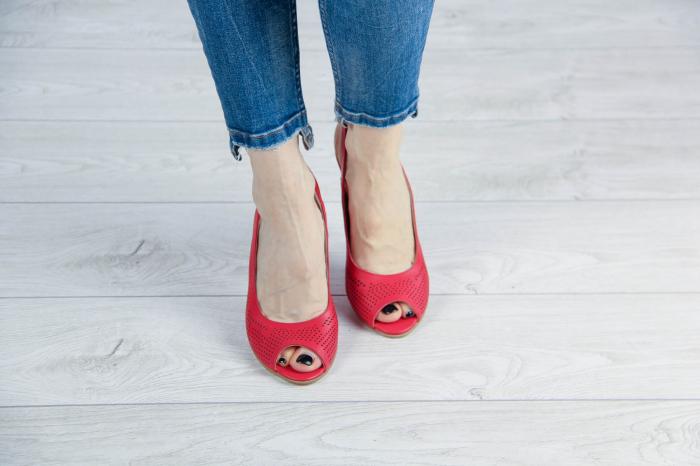 Sandale din piele naturala albastra laserata MSSD0619L2-2-20 [2]