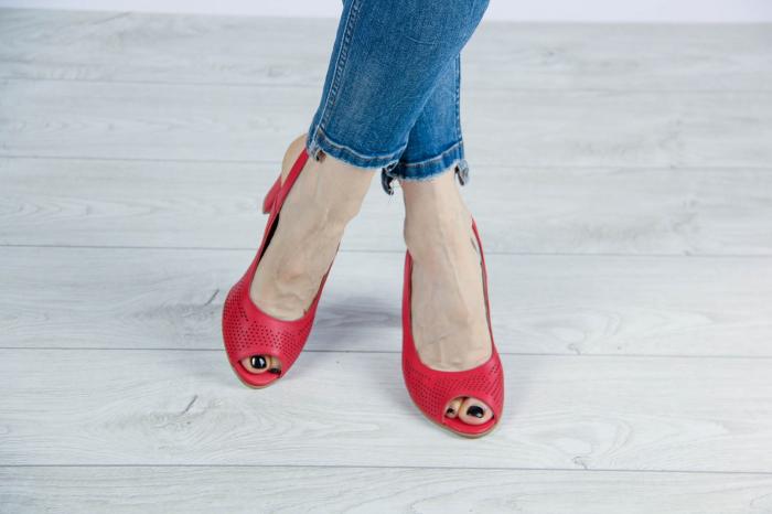 Sandale din piele naturala albastra laserata MSSD0619L2-2-20 [1]