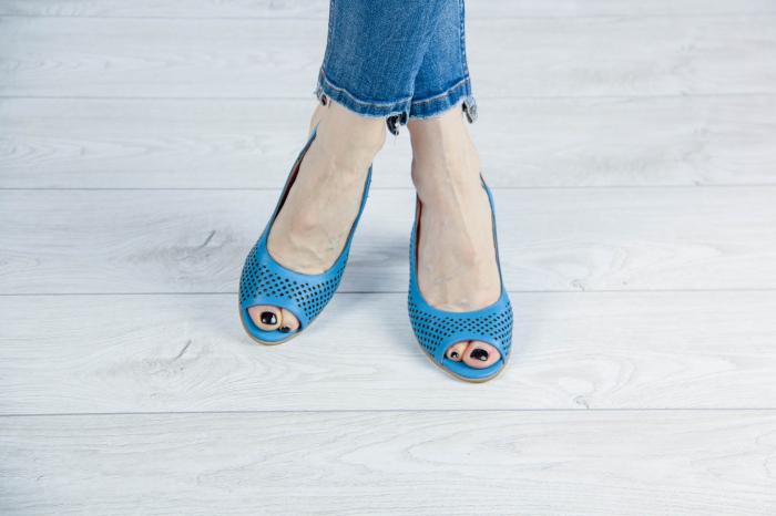 Sandale din piele naturala albastra laserata MSSD4218L3-1-20 [1]