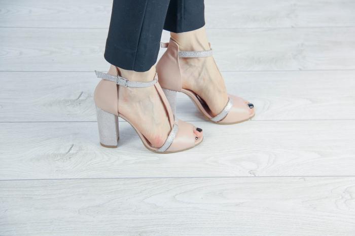 Sandale din piele naturala bej MSSD3419-20 [0]