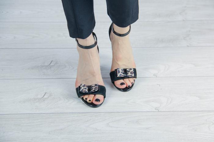 Sandale din piele naturala camoscio negru MSSD4520-20 [2]