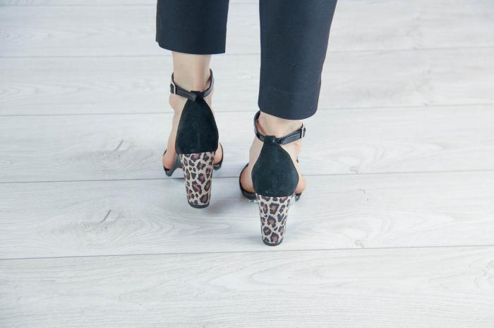Sandale din piele naturala camoscio negru MSSD4520-20 [3]