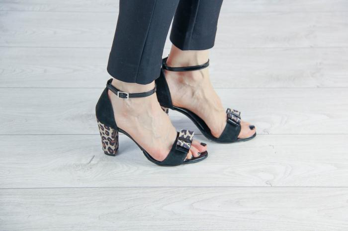 Sandale din piele naturala camoscio negru MSSD4520-20 [0]