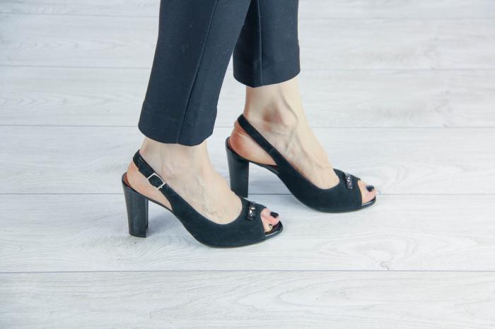 Sandale din piele naturala camoscio negru MSSD6920-20 [0]