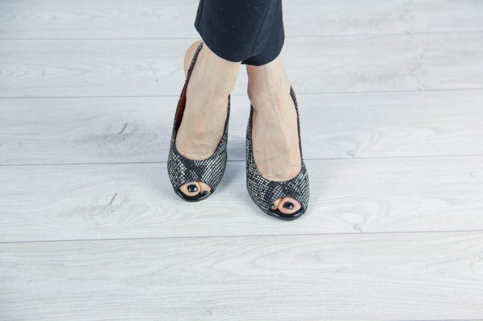 Sandale din piele naturala cu imprimeu de sarpe MSSD0519-2-20 [1]