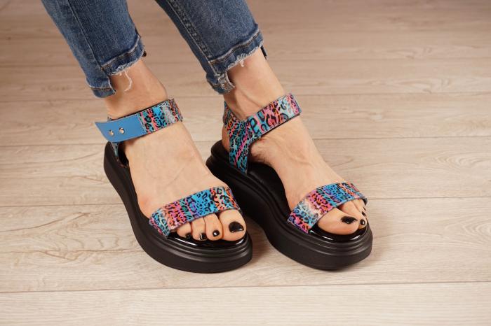 Sandale din piele naturala cu imprimeu MSSD0521-21 [0]