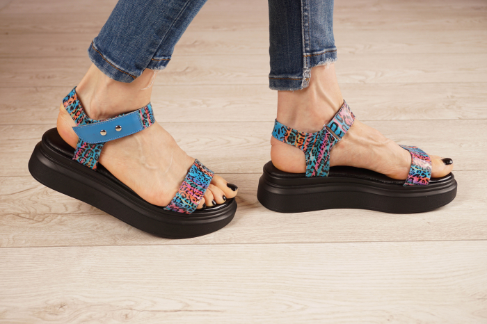 Sandale din piele naturala cu imprimeu MSSD0521-21 [2]