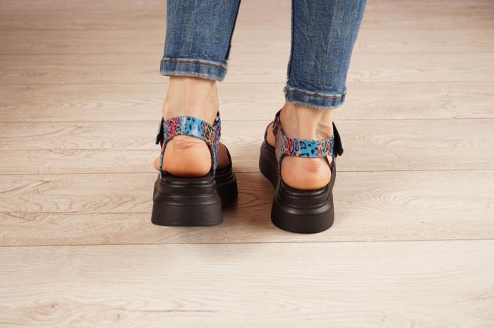 Sandale din piele naturala cu imprimeu MSSD0521-21 [4]