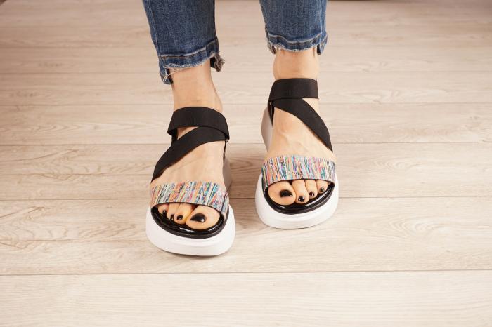 Sandale din piele naturala cu imprimeu MSSD0621-21 [3]