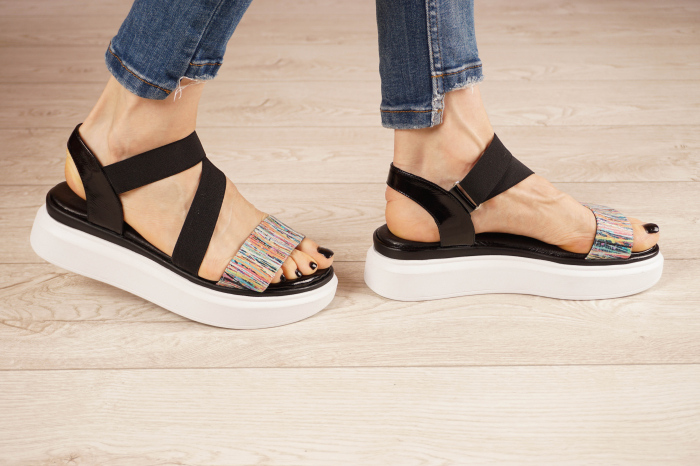 Sandale din piele naturala cu imprimeu MSSD0621-21 [2]