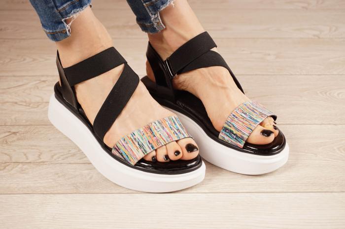 Sandale din piele naturala cu imprimeu MSSD0621-21 [0]