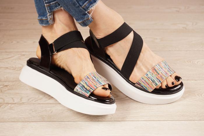 Sandale din piele naturala cu imprimeu MSSD0621-21 [1]