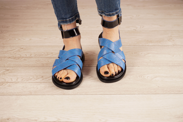 Sandale din piele naturala cu imprimeu  MSSD1221-21 [3]