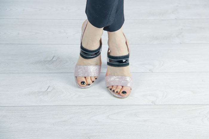 Sandale din piele naturala cu imprimeu MSSD4019-20 [1]