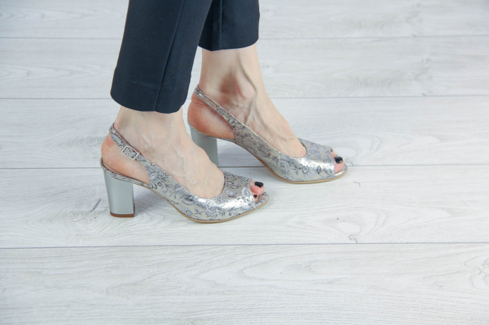 Sandale din piele naturala cu imprimeu MSSD4218-1-20 [0]