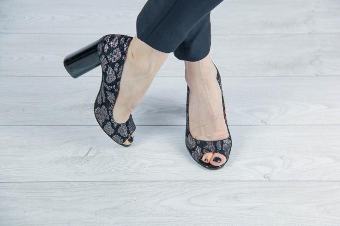 Pantofi decupati din piele naturala cu imprimeu MSSD4220-4-20 [1]