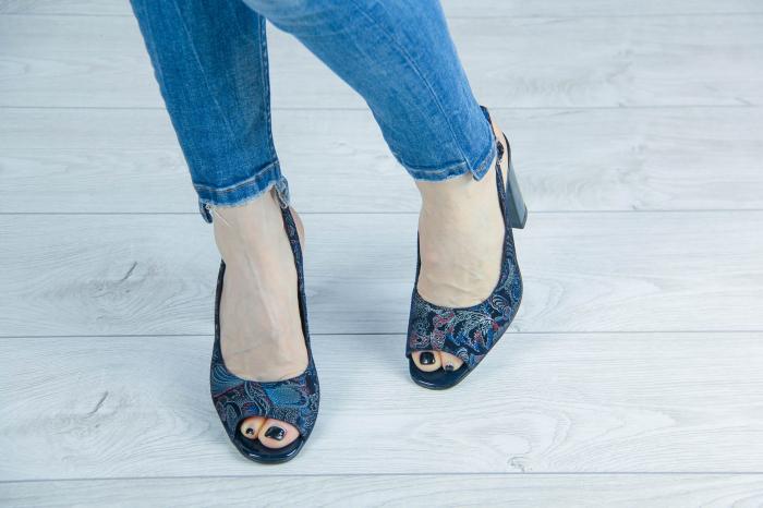 Sandale din piele naturala cu imprimeu MSSD52617-2-20 [2]