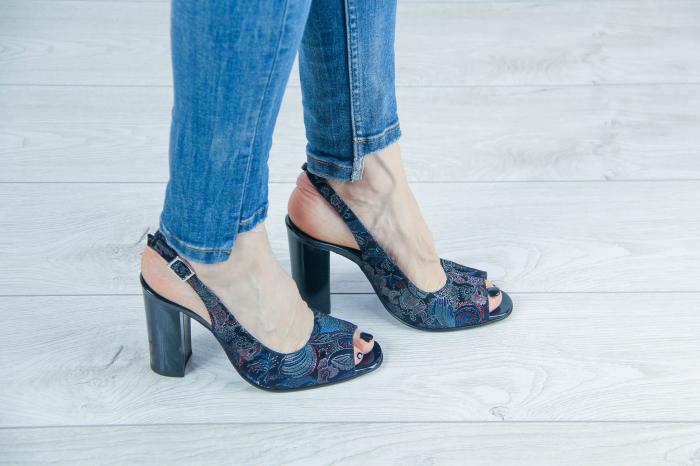 Sandale din piele naturala cu imprimeu MSSD52617-2-20 [0]