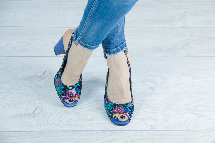 Sandale din piele naturala cu imprimeu MSSD52617-3-20 [1]