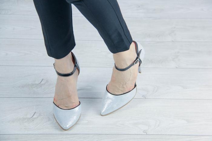 Pantofi decupati din piele naturala cu imprimeu MSSD5620-20 [1]
