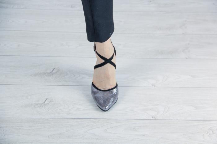 Pantofi decupati din piele naturala cu imprimeu MSSD6318-19 [1]