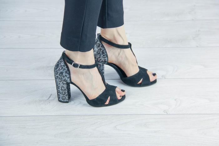 Sandale din piele naturala cu imprimeu MSSD7218-20 [0]