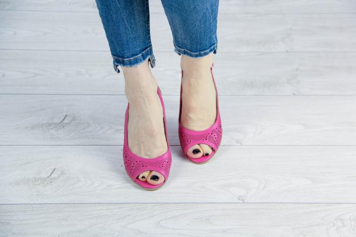 Sandale din piele naturala fuxia laserata MSSD3411L8-5-20 [2]
