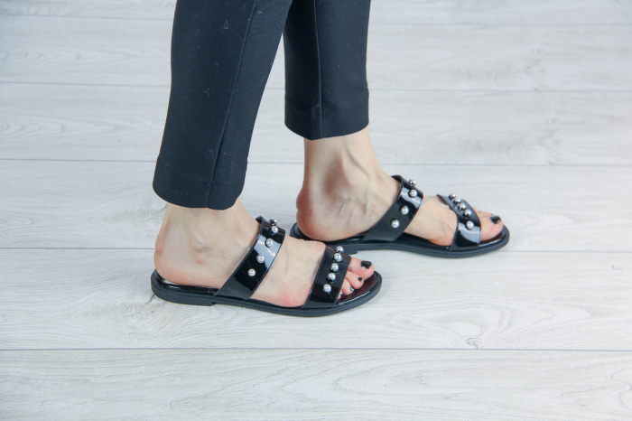 Papuci din piele naturala lacuita MSSD1820-20 [1]
