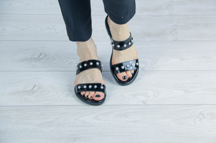 Papuci din piele naturala lacuita MSSD1820-20 [2]