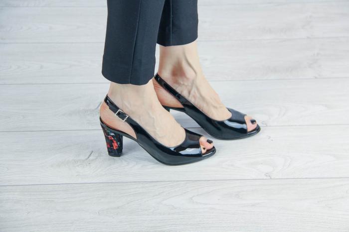 Sandale din piele naturala lacuita MSSD3411-12-20 [0]