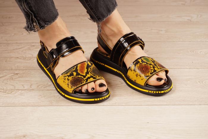 Sandale din piele naturala neagra  MSSD1421-1-21 [1]