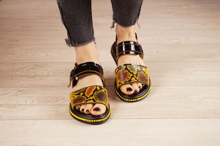 Sandale din piele naturala neagra  MSSD1421-1-21 [3]