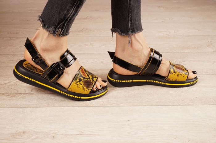 Sandale din piele naturala neagra  MSSD1421-1-21 [2]