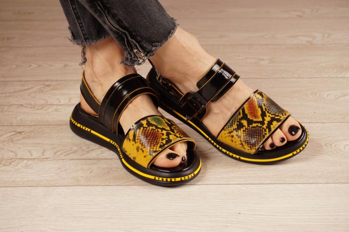 Sandale din piele naturala neagra  MSSD1421-1-21 [0]