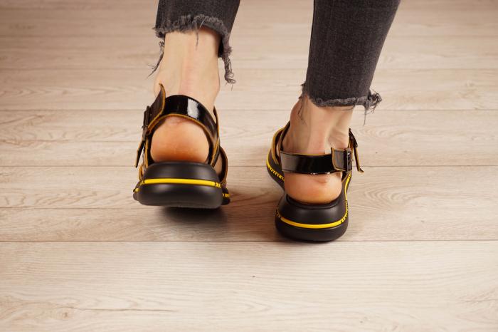 Sandale din piele naturala neagra  MSSD1421-1-21 [4]