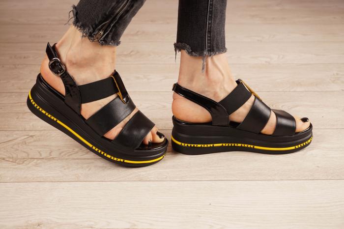 Sandale din piele naturala neagra MSSD2321-21 [2]