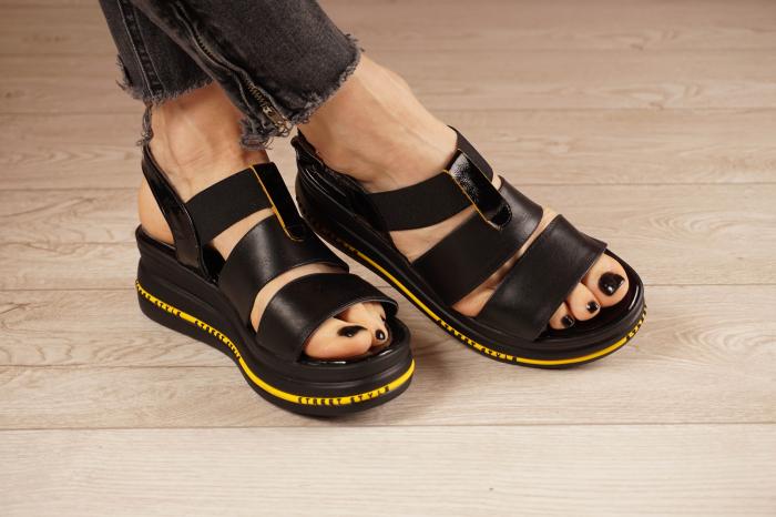 Sandale din piele naturala neagra MSSD2321-21 [1]