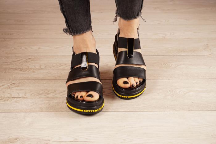 Sandale din piele naturala neagra MSSD2321-21 [3]