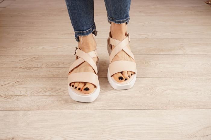 Sandale din piele naturala nude MSSD1621-21 [3]