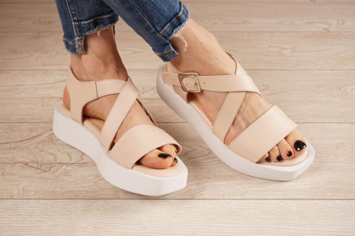 Sandale din piele naturala nude MSSD1621-21 [0]