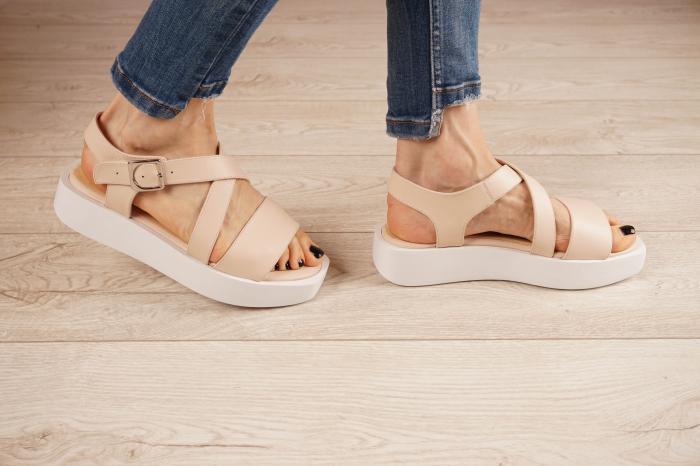 Sandale din piele naturala nude MSSD1621-21 [2]