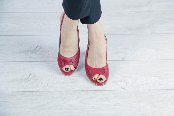 Sandale din piele naturala rosie laserata MSSD3411L8-4-20 [1]