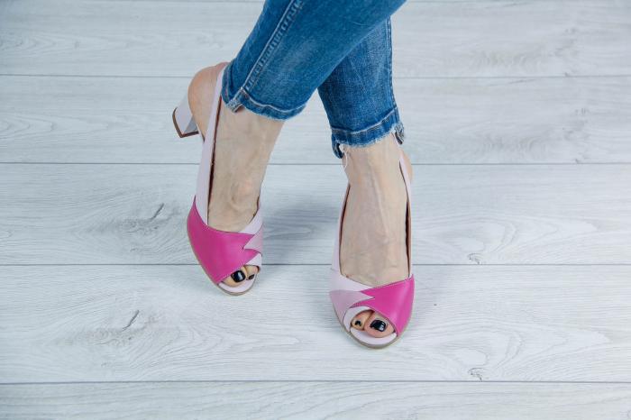 Sandale din piele naturala roz pudra MSSD3420-20 [1]