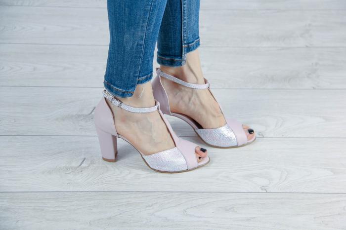 Sandale din piele naturala roz pudra MSSD5920-20 [0]