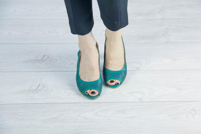 Sandale din piele naturala verde laserata MSSD4218L3-6-20 [2]