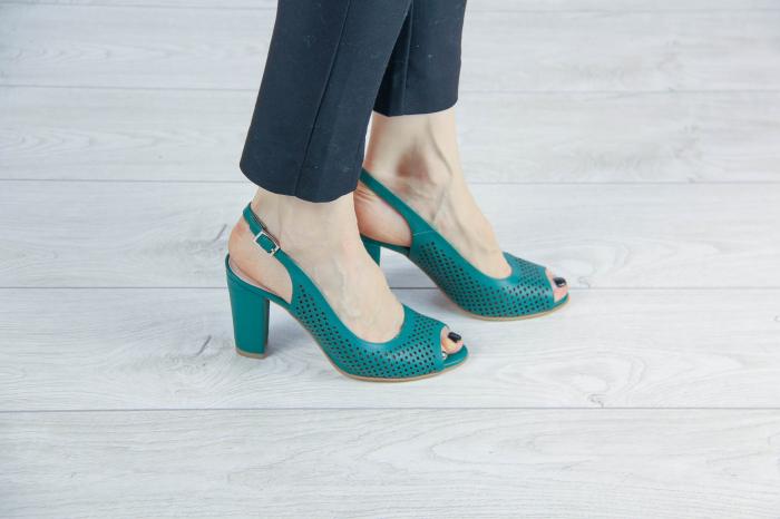 Sandale din piele naturala verde laserata MSSD4218L3-6-20 [0]